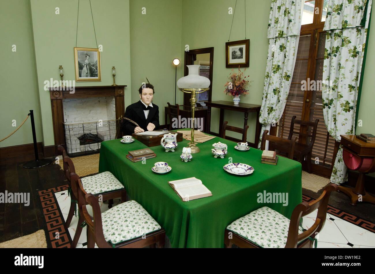 The interior of the Treaty House in Waitangi, New Zealand. - Stock Image