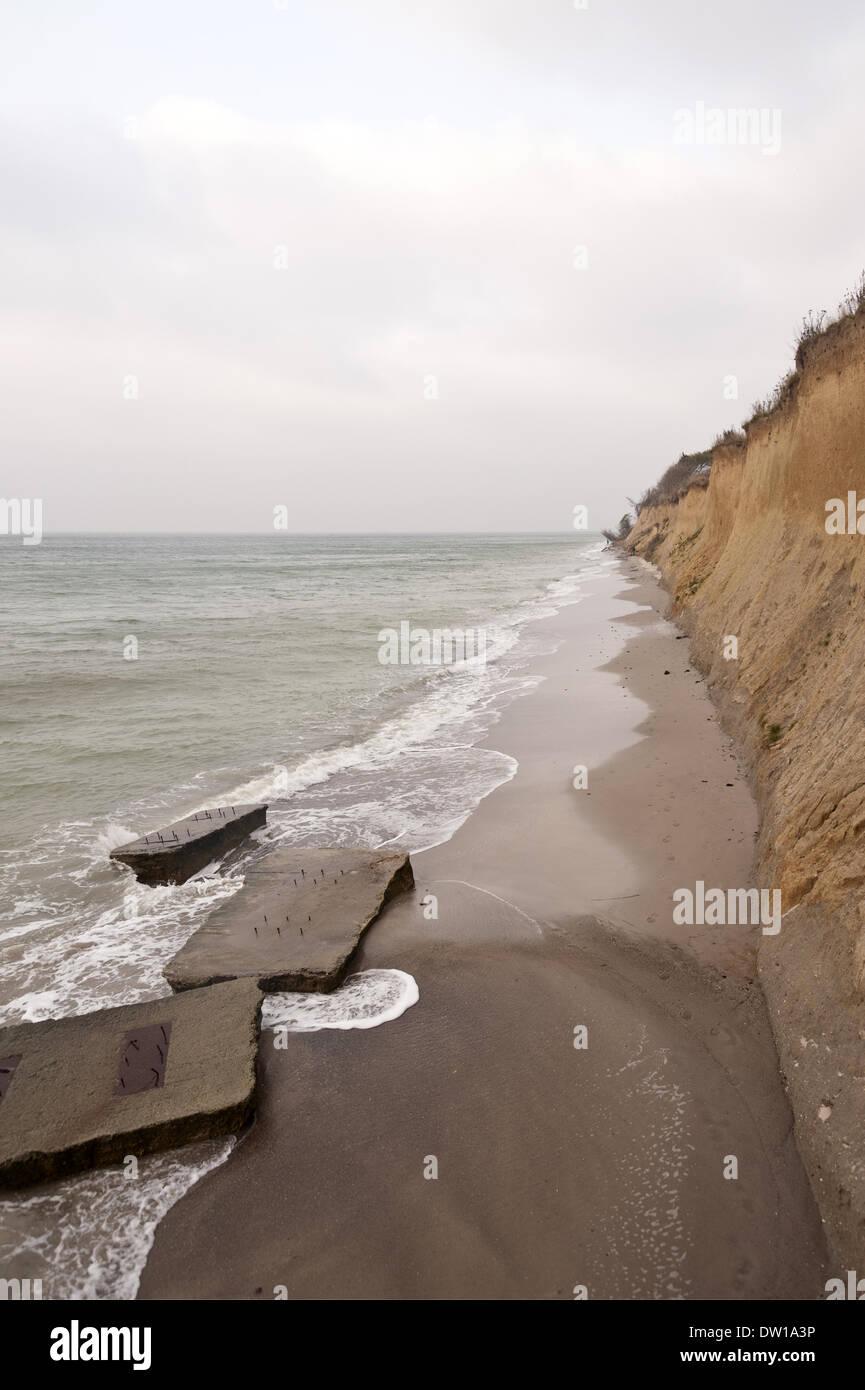 Cliffline of Ahrenshoop on Darss in Germany - Stock Image