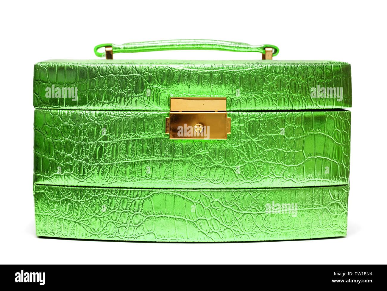 beautiful safe box with padlock - Stock Image