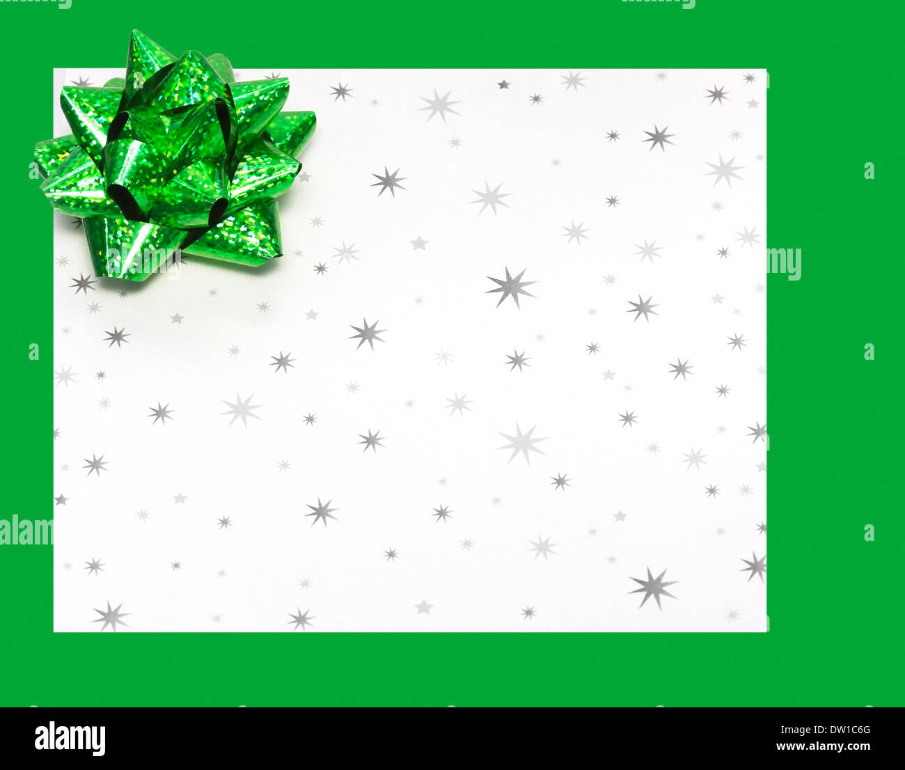 Gift letter on holidays with bow Stock Photo