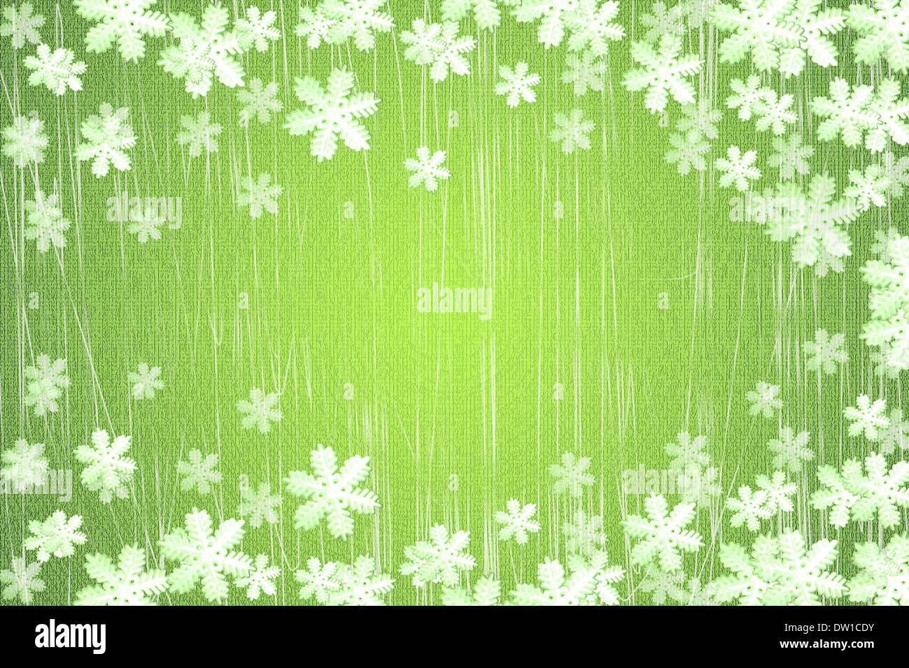 winter snowflake background and frame - Stock Image