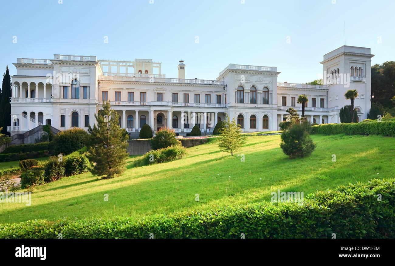 Livadia Palace in Livadiya, Crimea, Ukraine. - Stock Image