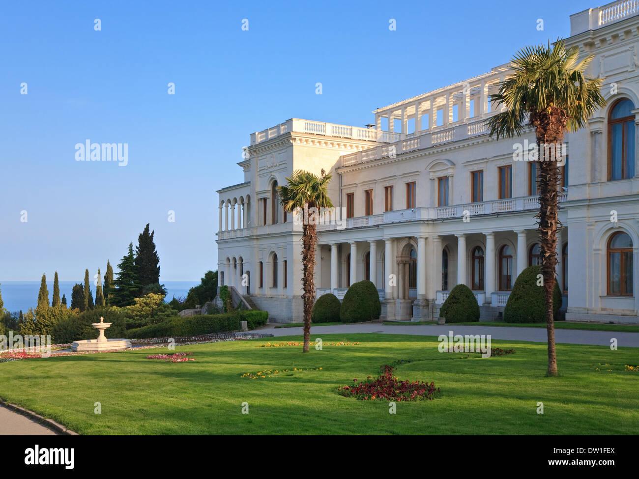 Livadia Palace (Crimea, Ukraine). - Stock Image