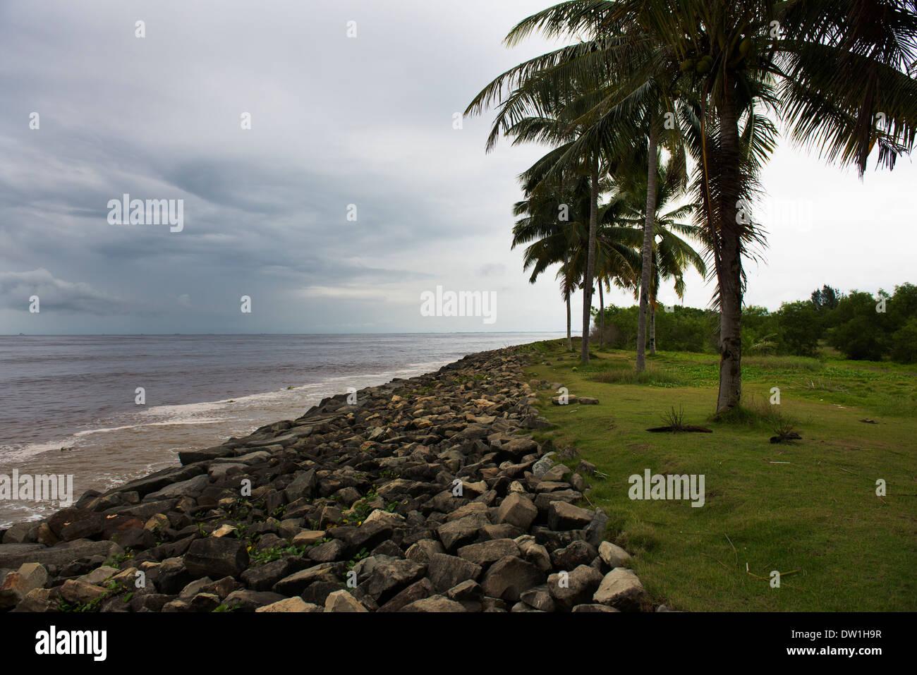 Coastline in Miri, Sarawak, Malaysia. - Stock Image