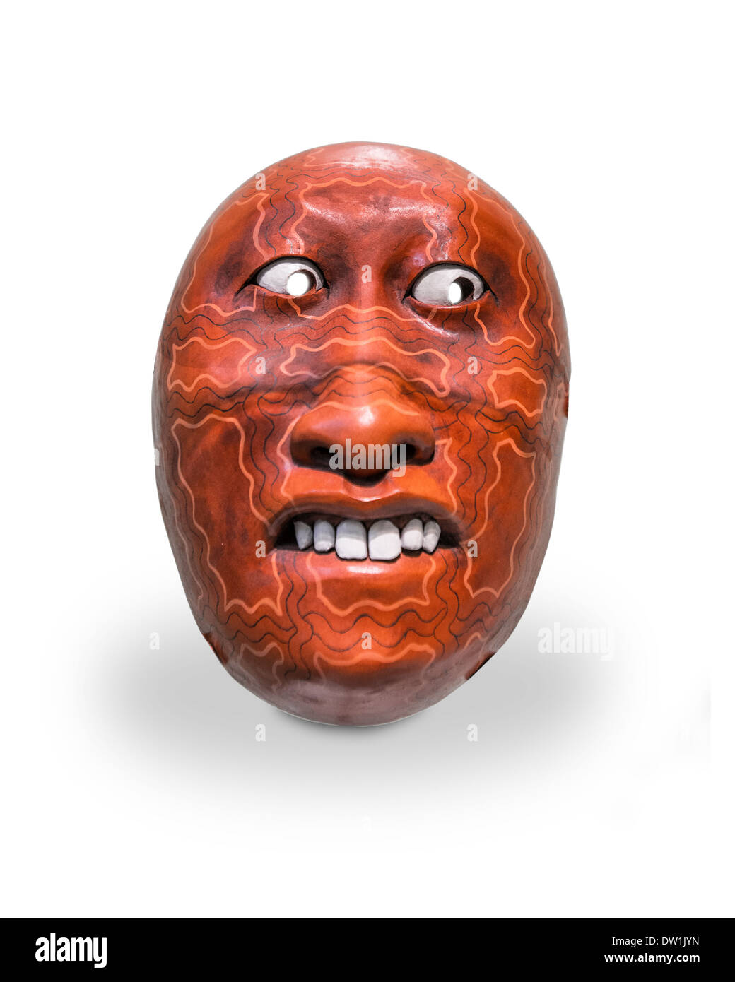 a comical Hopi life mask made of chocolate - Stock Image