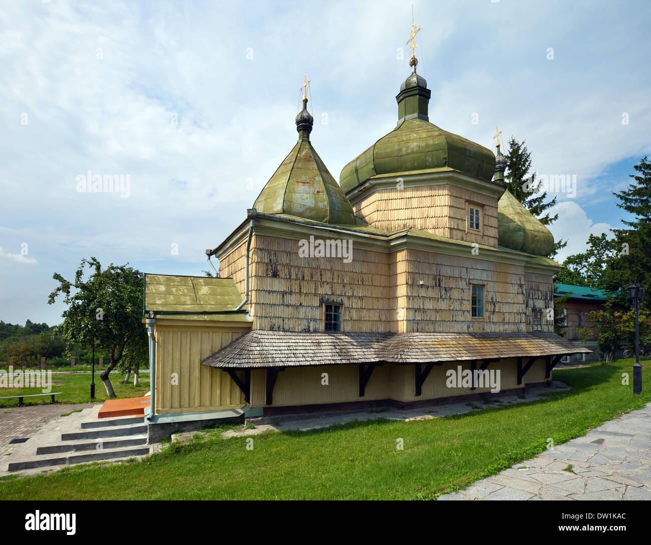 Old wood church (XVII - XVIII) Stock Photo