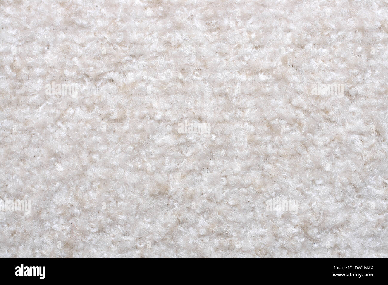 white wool fabric texture - Stock Image