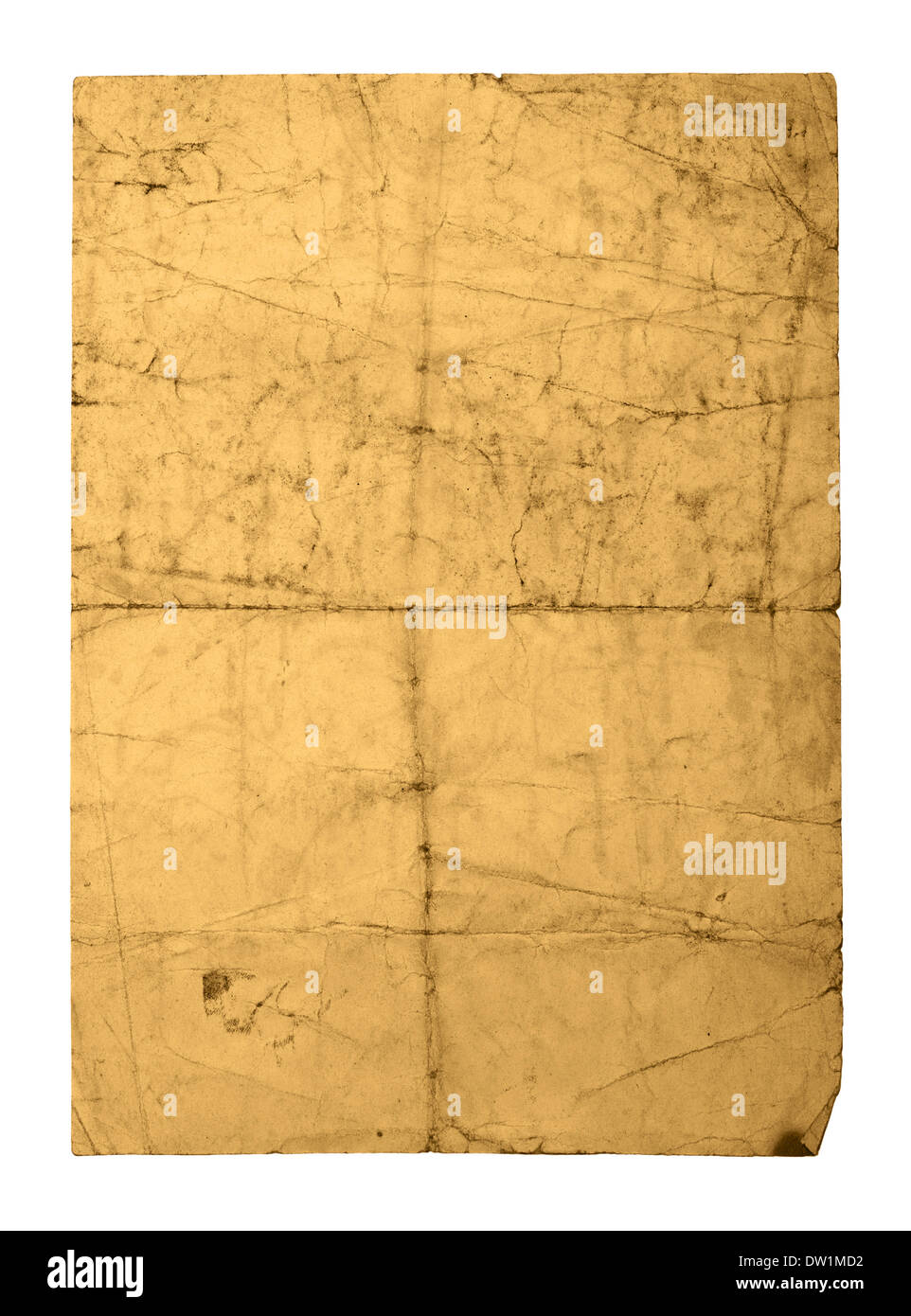 old crushed paper sheet - Stock Image
