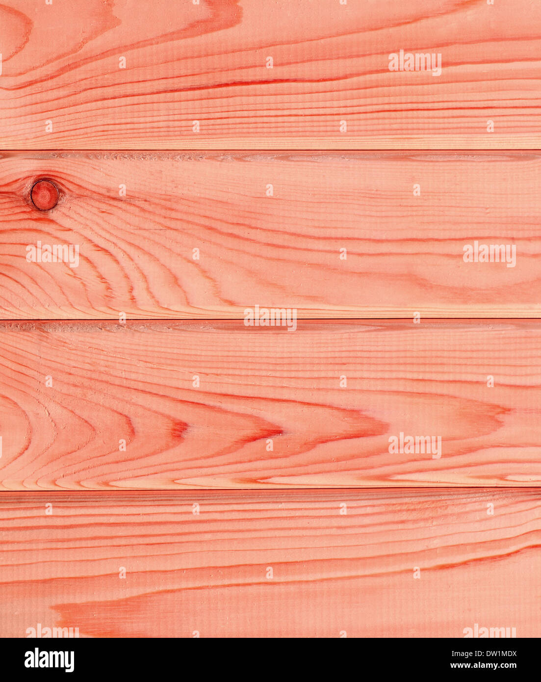 red bright wooden planks - Stock Image