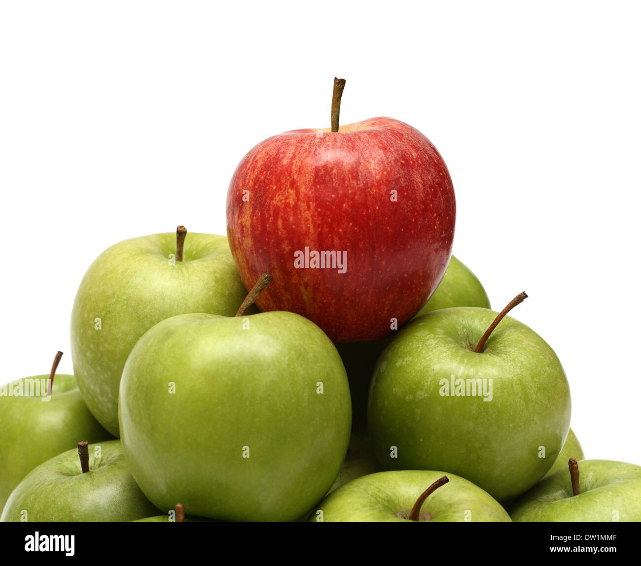 domination concepts with apples - Stock Image