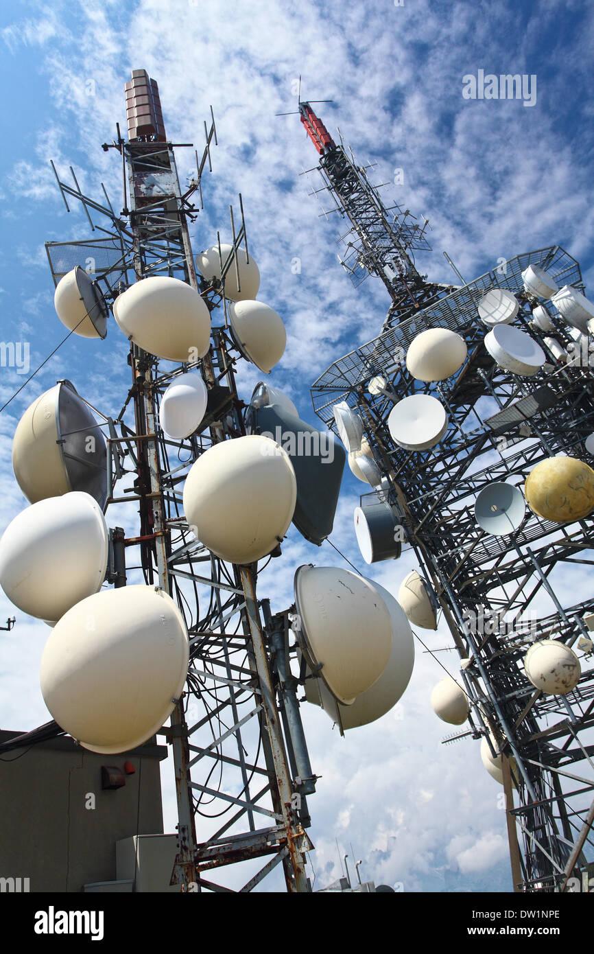 tv antenna repeater - Stock Image