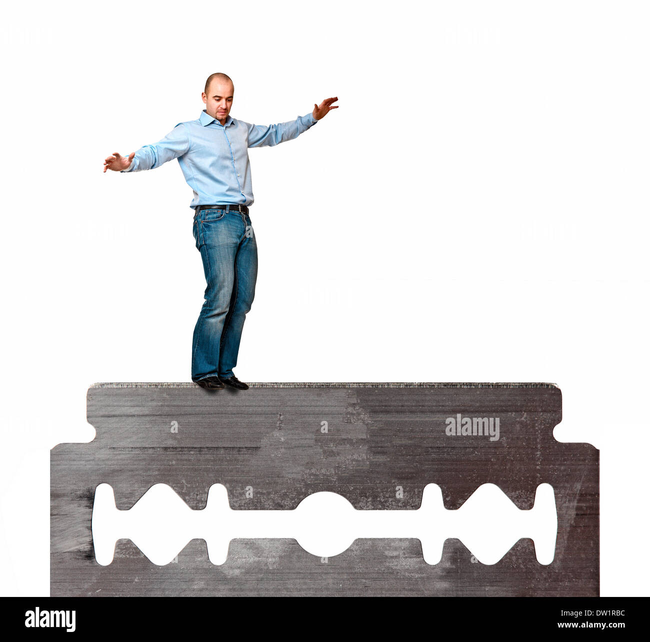 man on blade - Stock Image