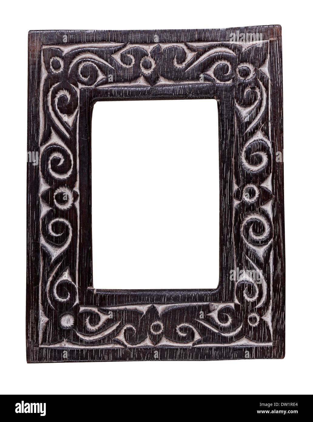 wood frame - Stock Image