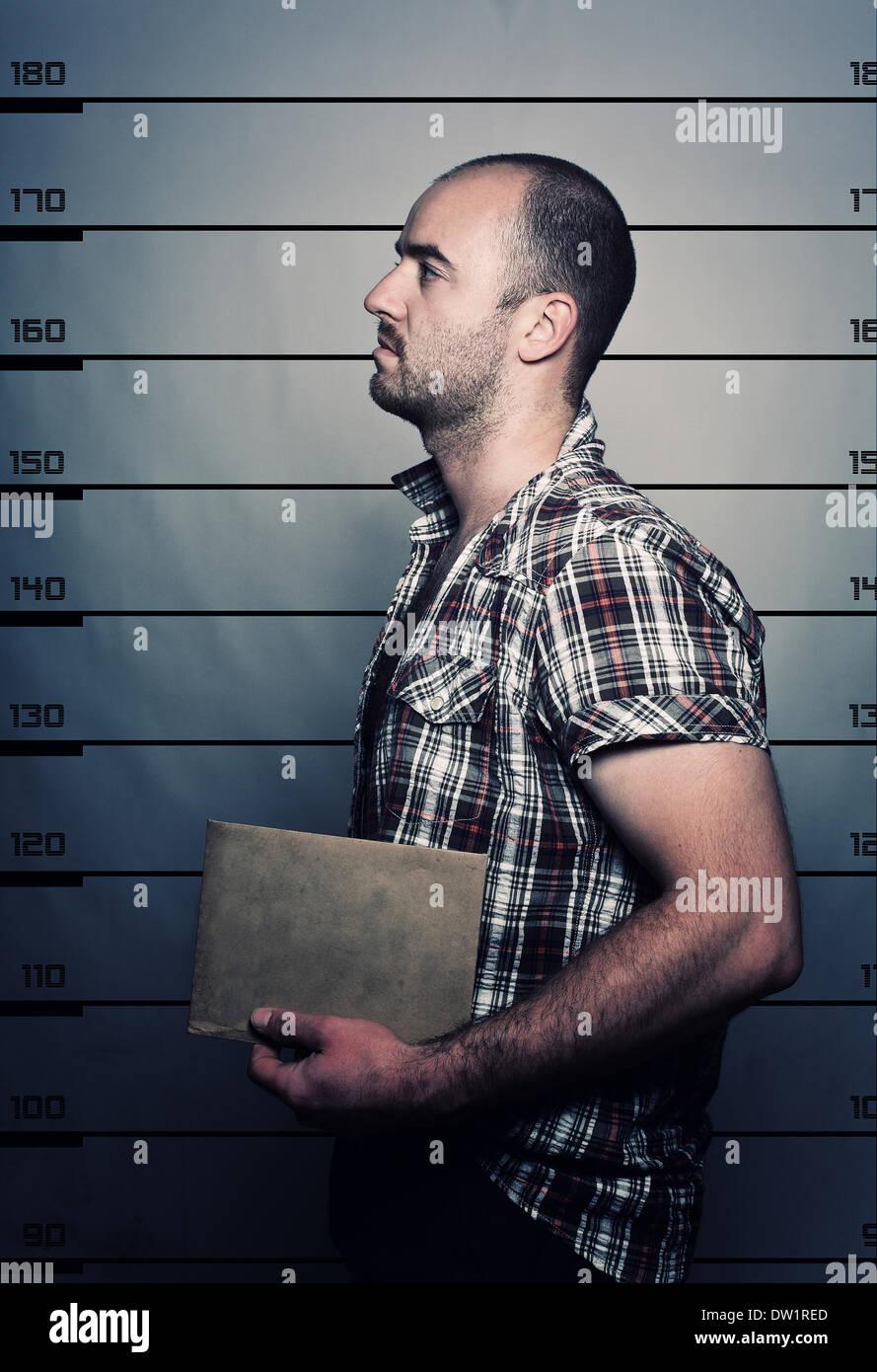 criminal portrait - Stock Image