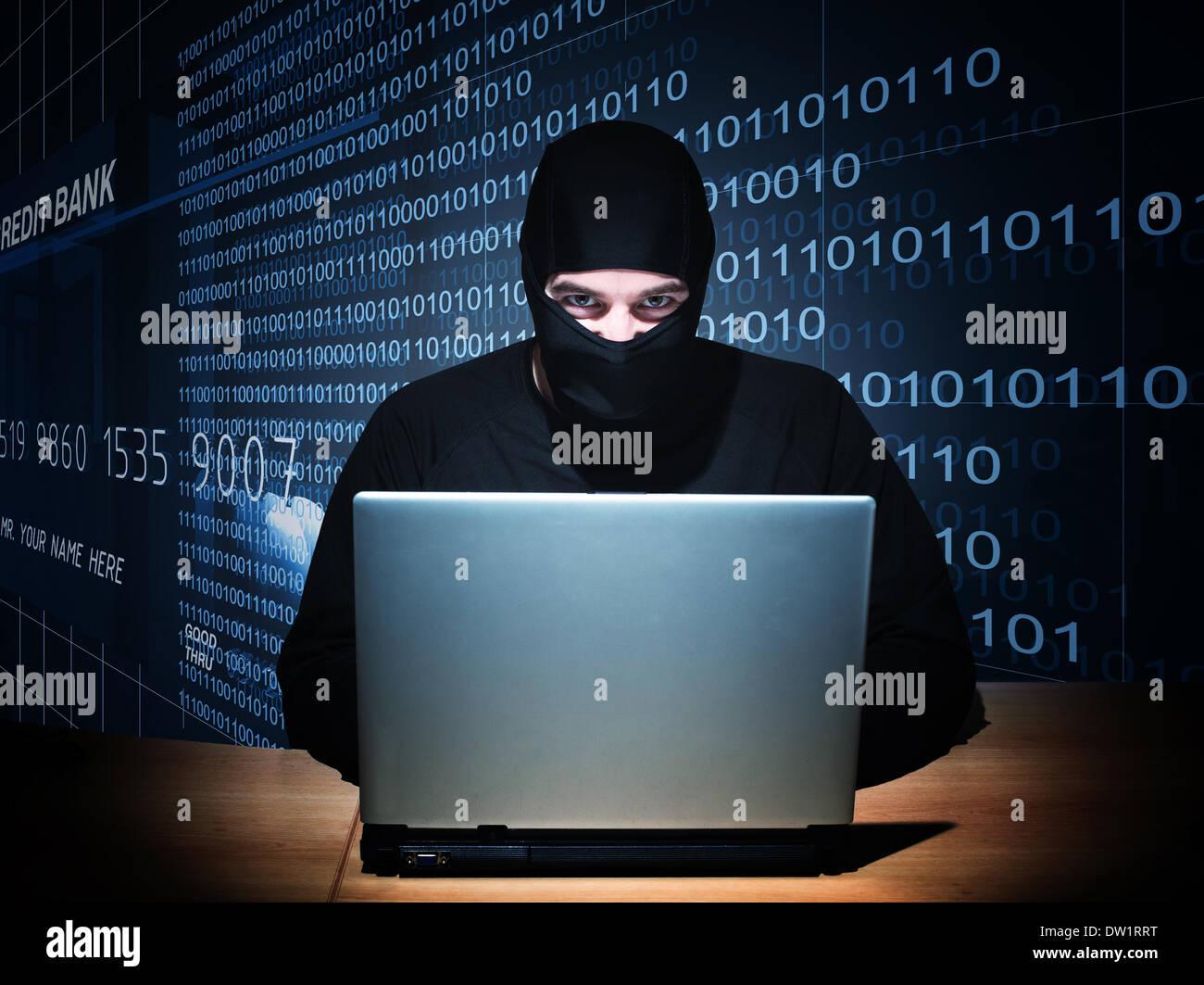 hacker on duty - Stock Image