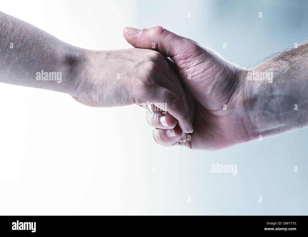 hands touch background - Stock Image