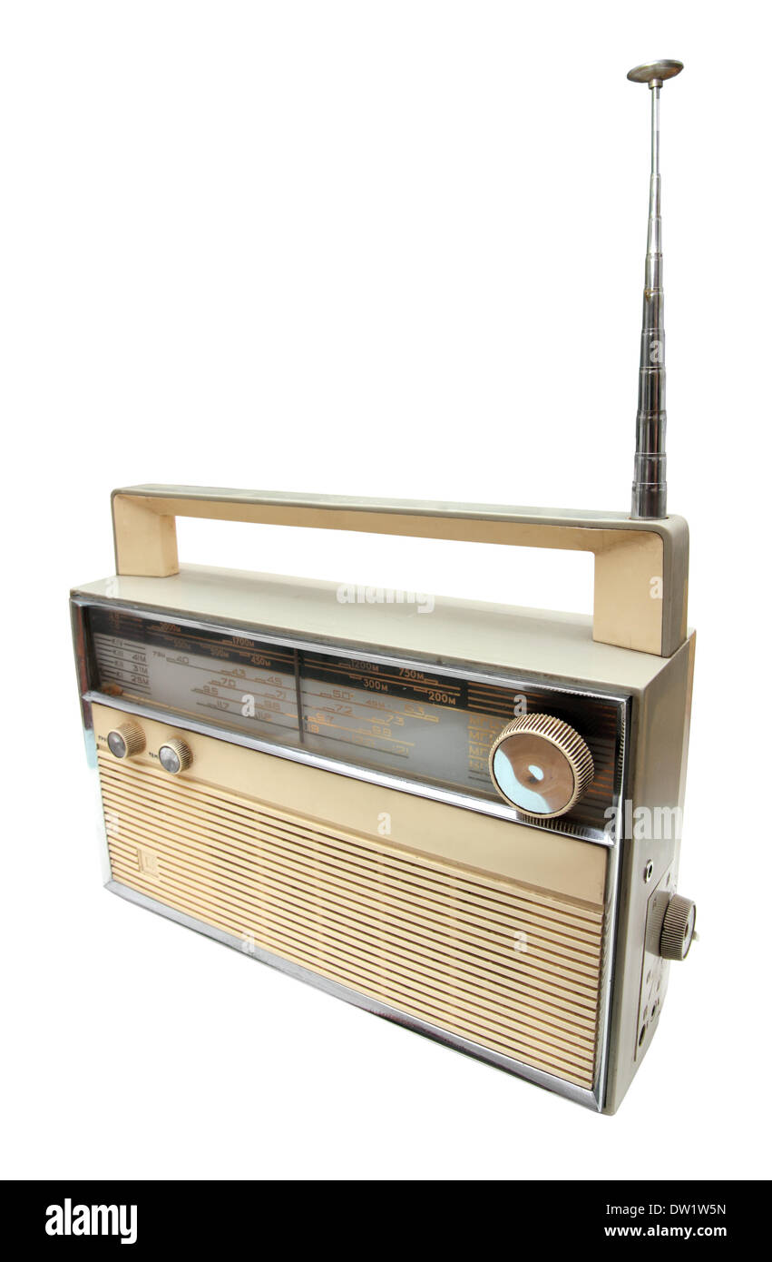 old radio receiver Stock Photo