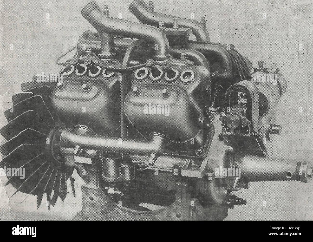 The Renault Water cooled Aeronautic motor 1909 - Stock Image