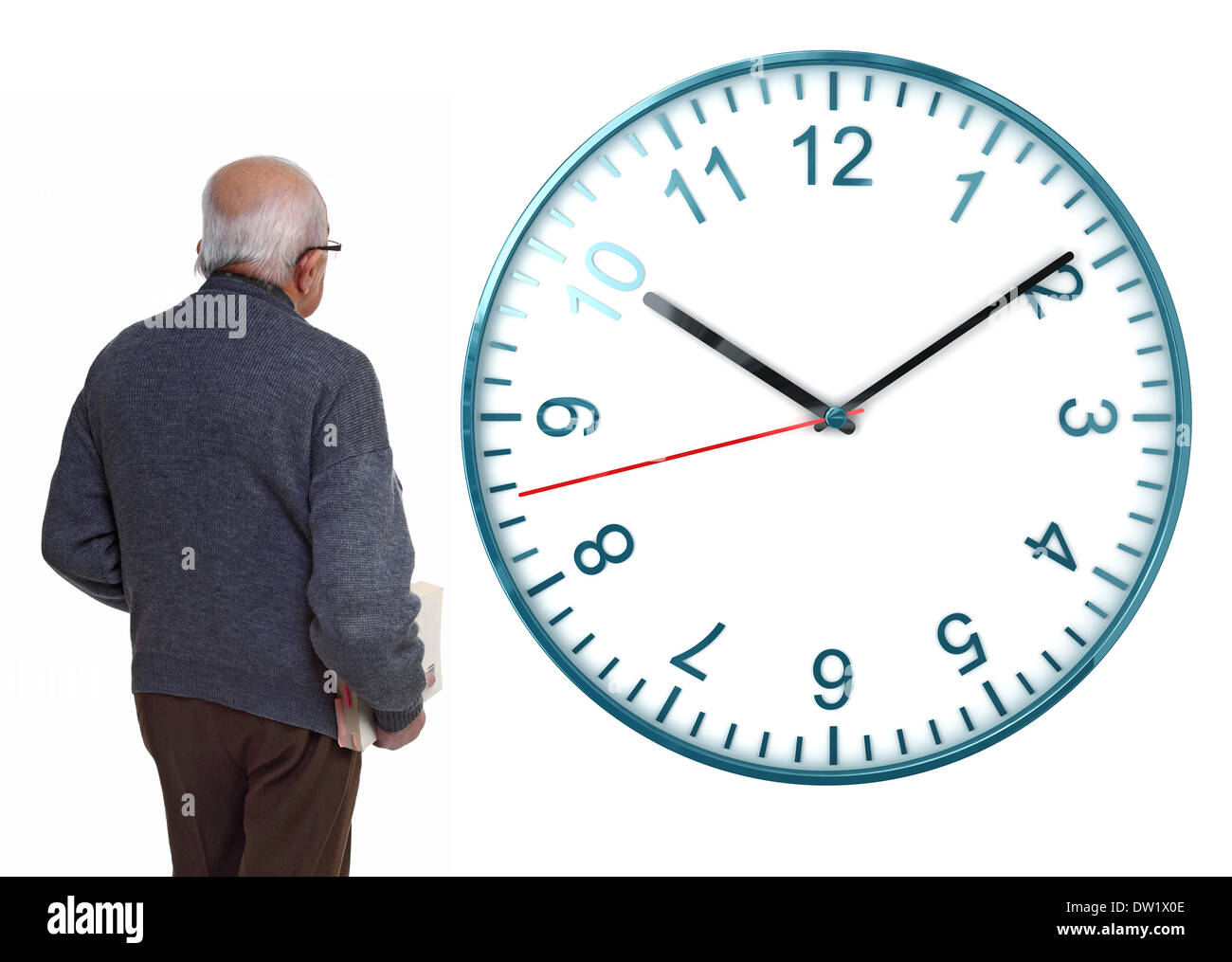 senior looking for more time - Stock Image