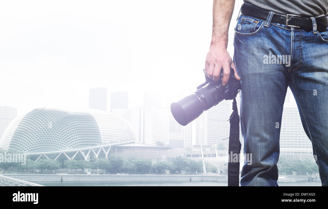 traveller - Stock Image