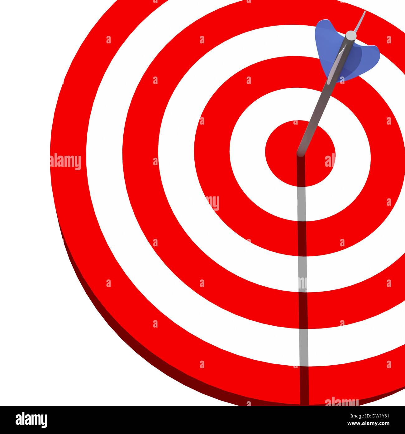 target and arrow - Stock Image