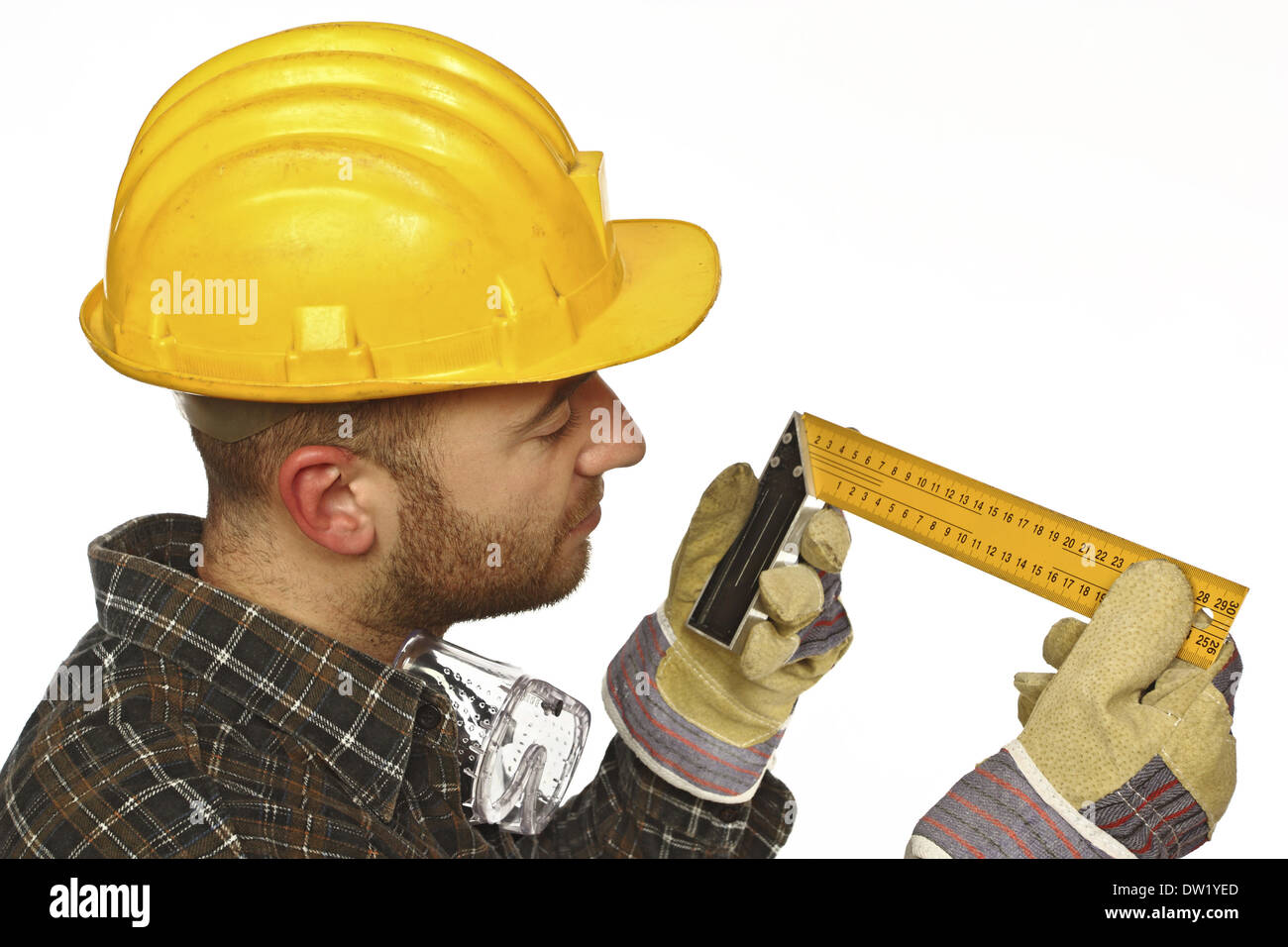 be precise at work - Stock Image