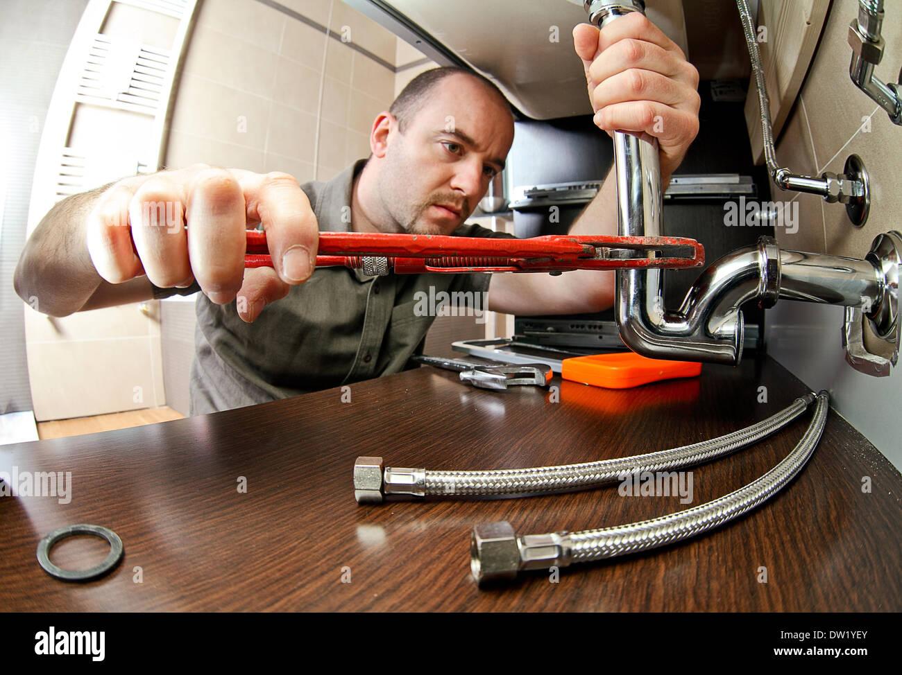 plumber - Stock Image