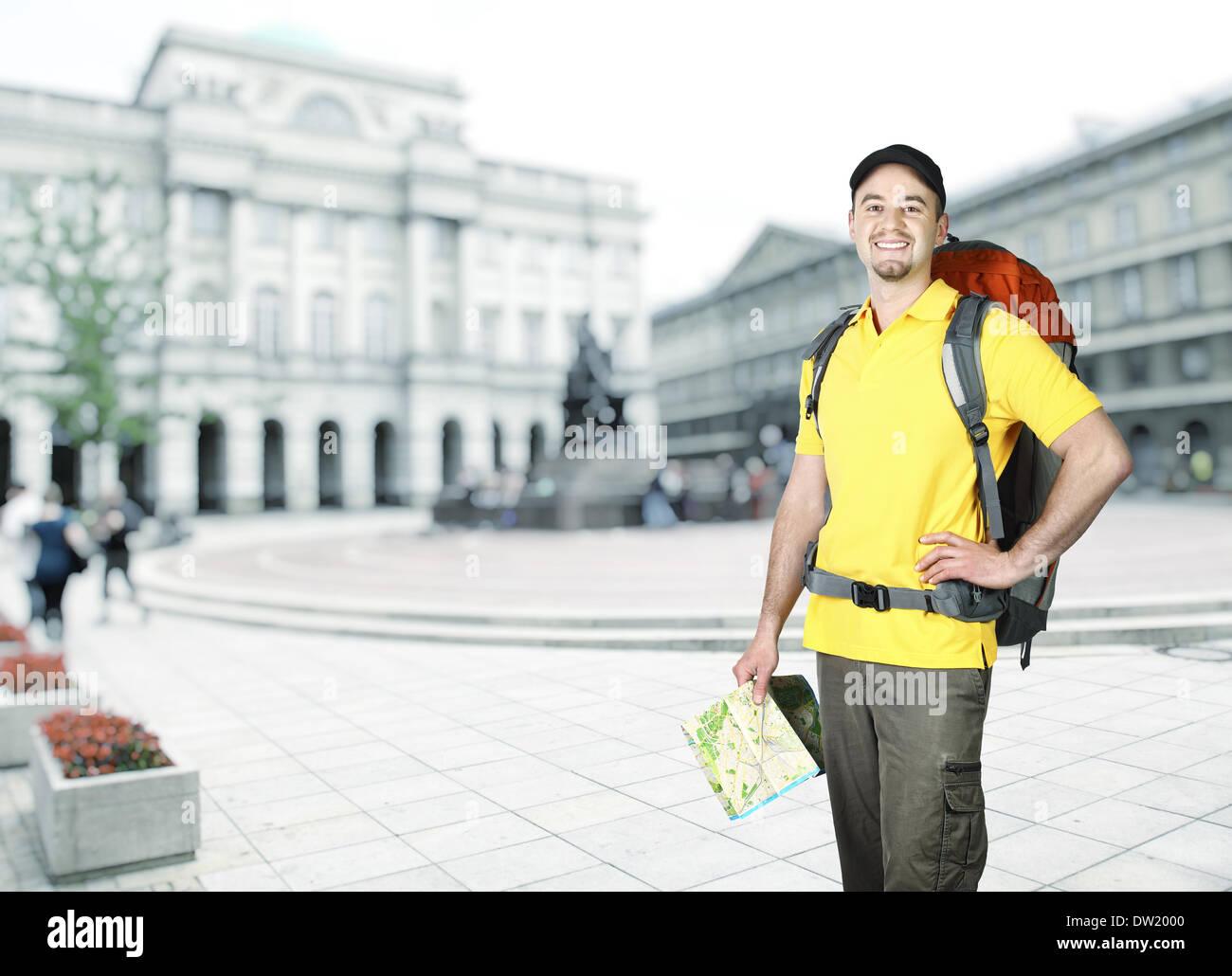 traveller - Stock Image