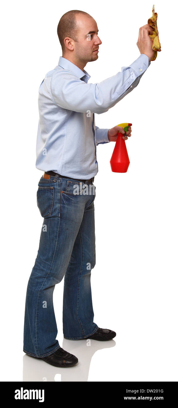 cleaner on duty - Stock Image