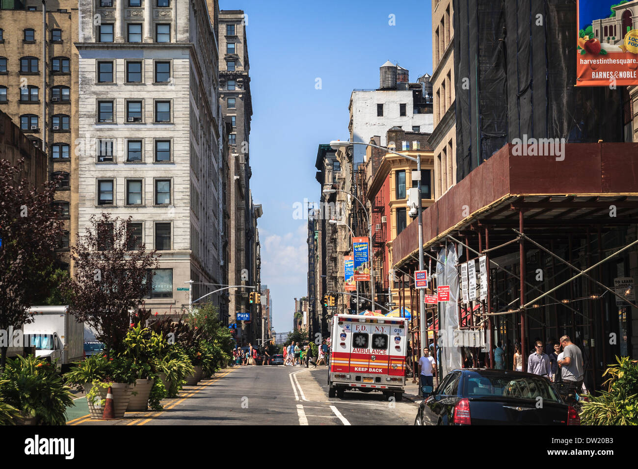 On 7th Avenue near the Union park in New York, USA Stock Photo