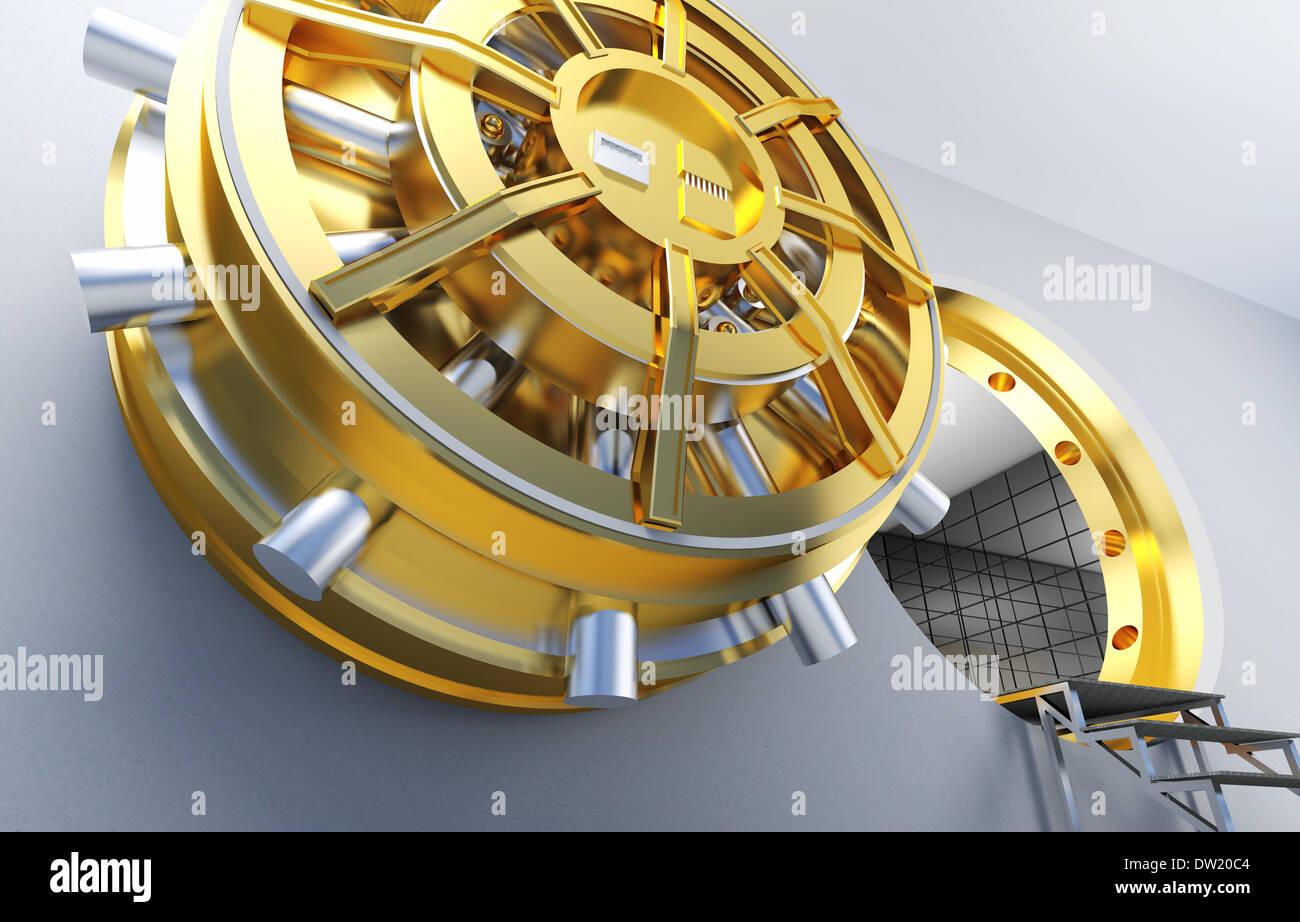 bank vault - Stock Image