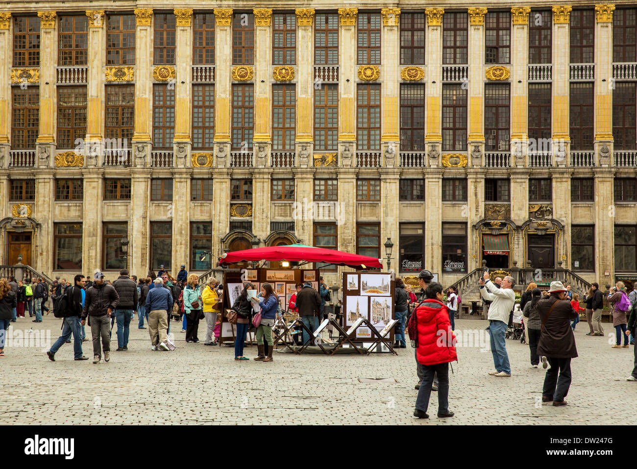 The Grand Place (Grote Markt) is the historical centre of Brussels - Stock Image