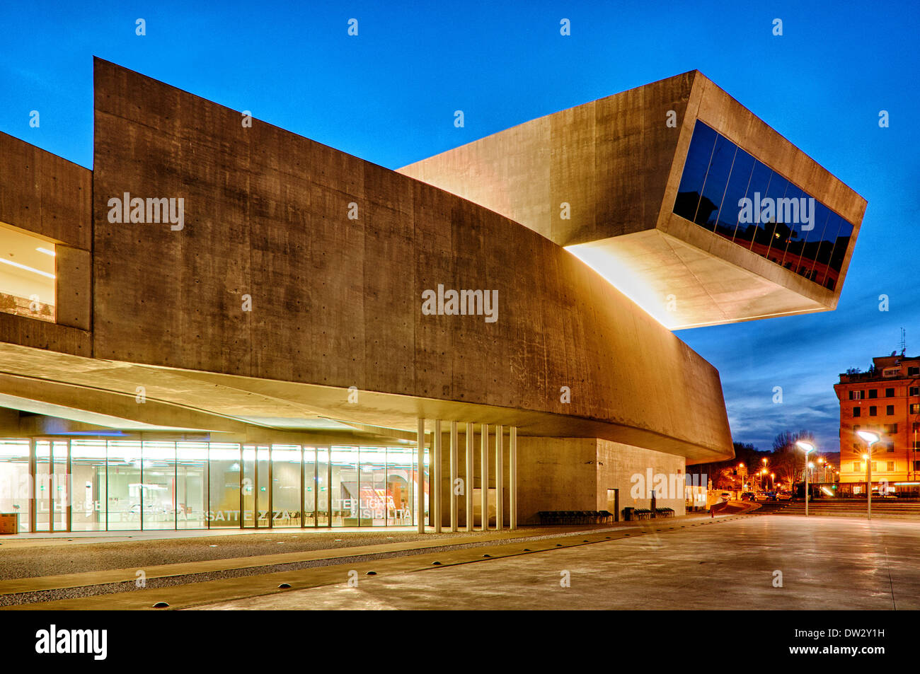 MAXXI – National Museum of the 21st Century Arts, Rome Italy - Stock Image