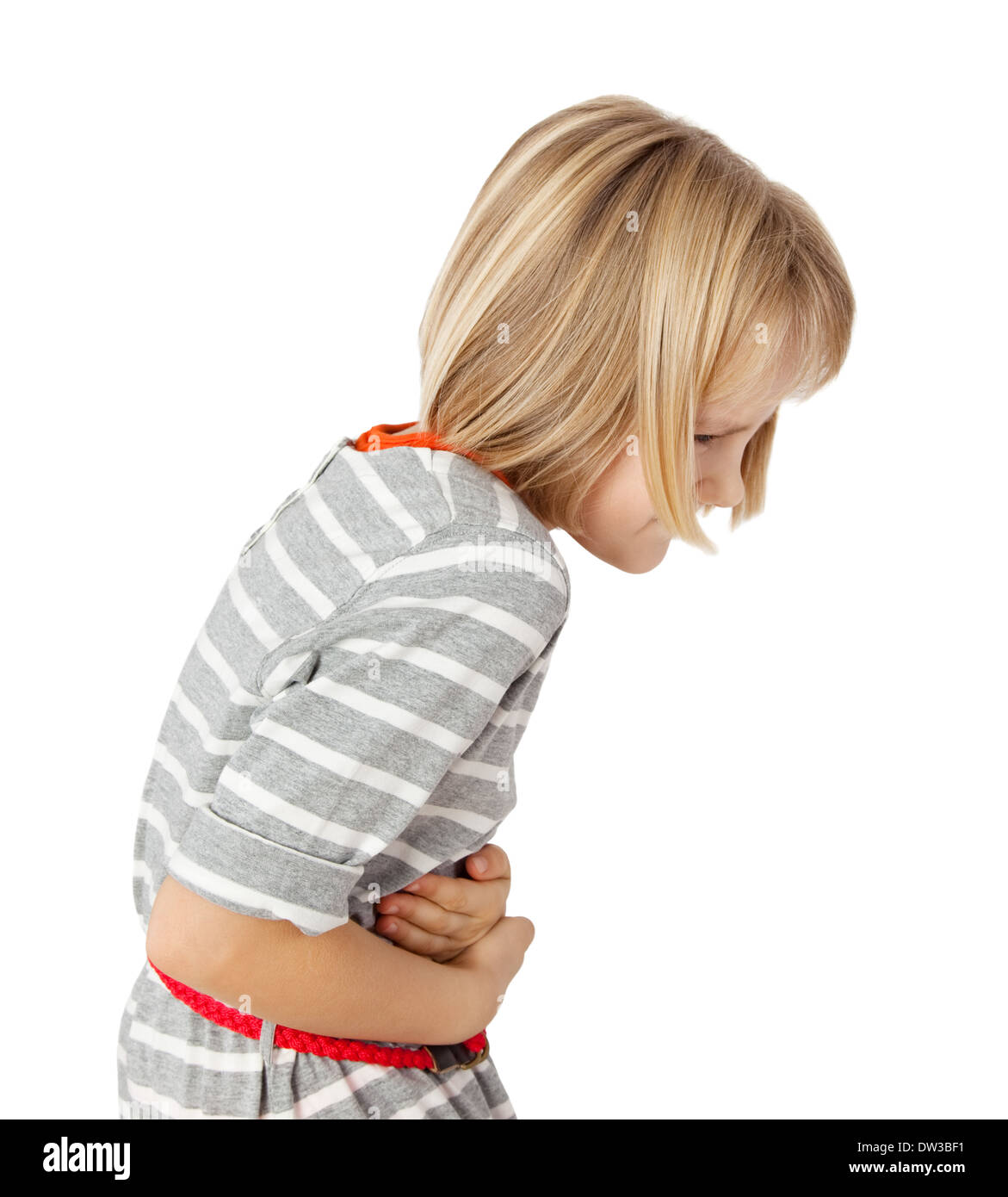 child with stomach ache - Stock Image