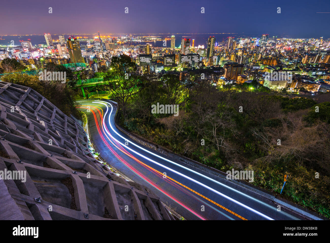 Kobe, Japan city skyline - Stock Image