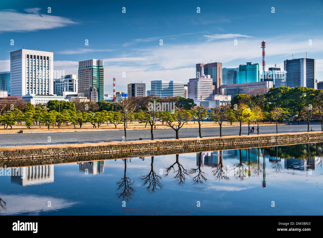 Tokyo, Japan cityscape at Marunouchi business district. - Stock Image