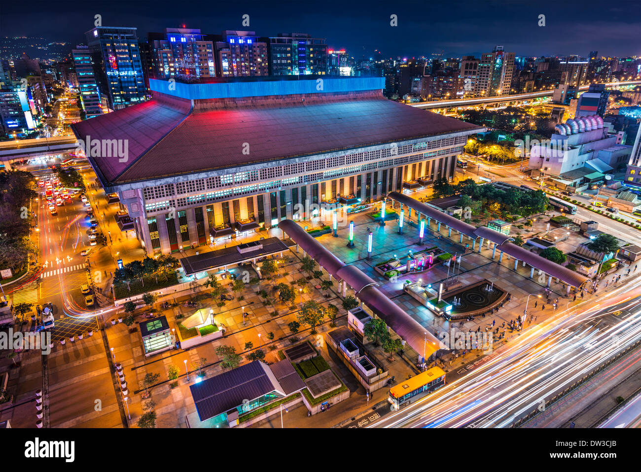 Taipei, Taiwan at Taipei Main Station in the Zhongzheng district. - Stock Image