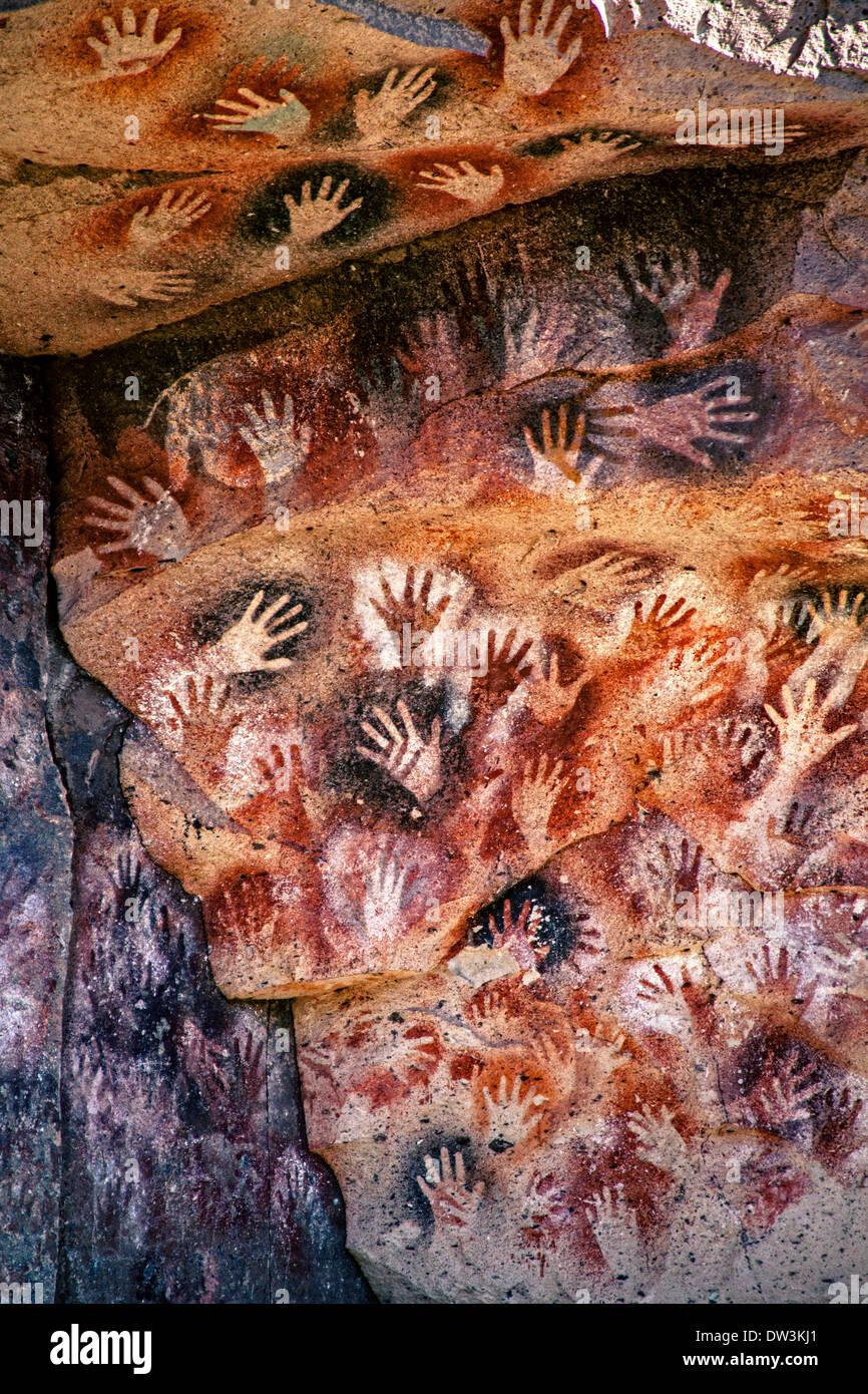 Cave of the hands,Santa Cruz,Argentina. - Stock Image