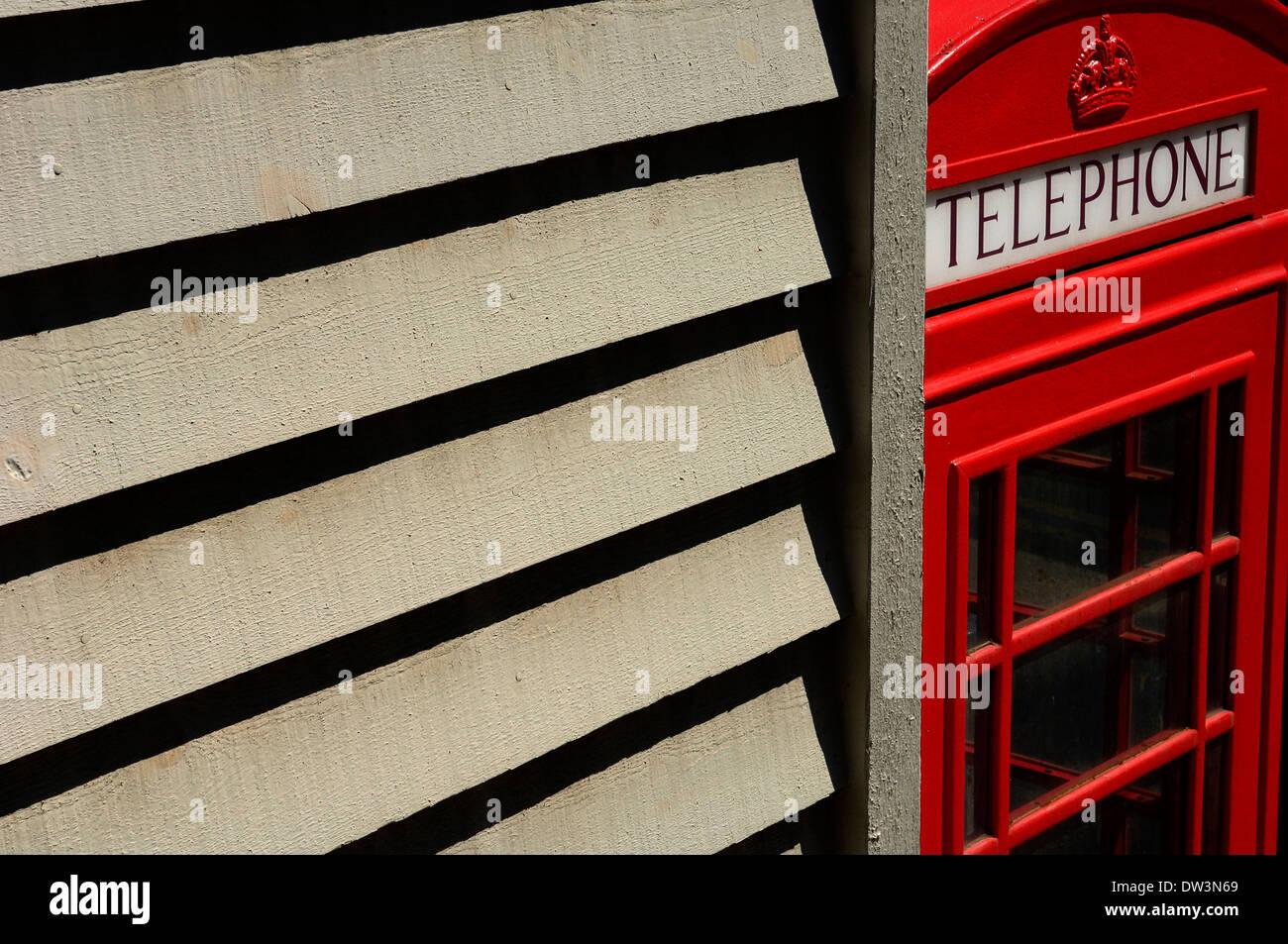 Red telephone box - Stock Image