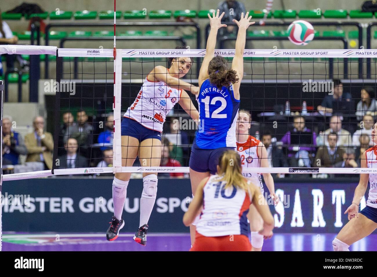 Finale di Coppa Italia Serie A2 Femminile di Pallavolo Stock Photo
