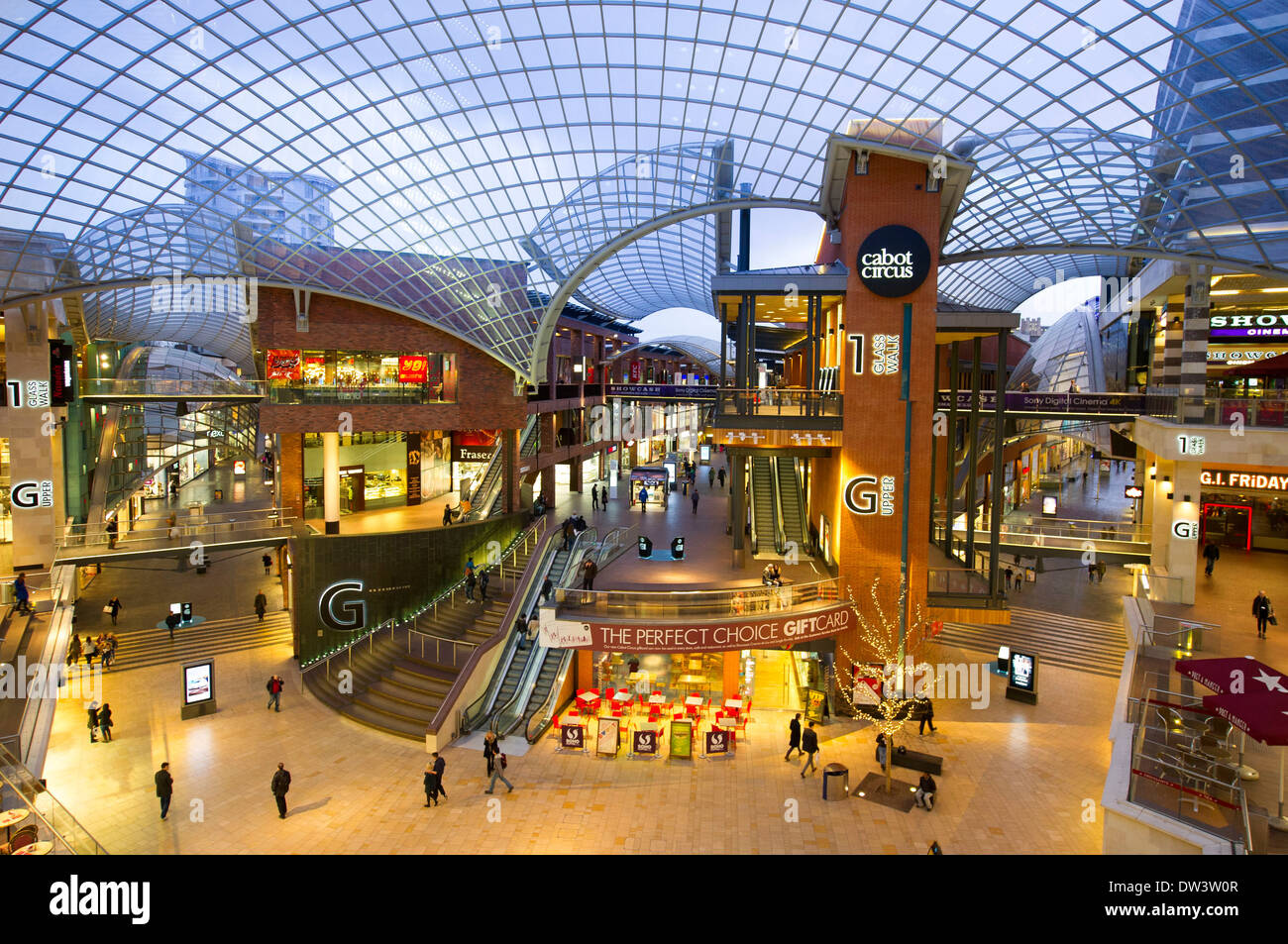 Cabot circus shopping centre in Bristol. - Stock Image