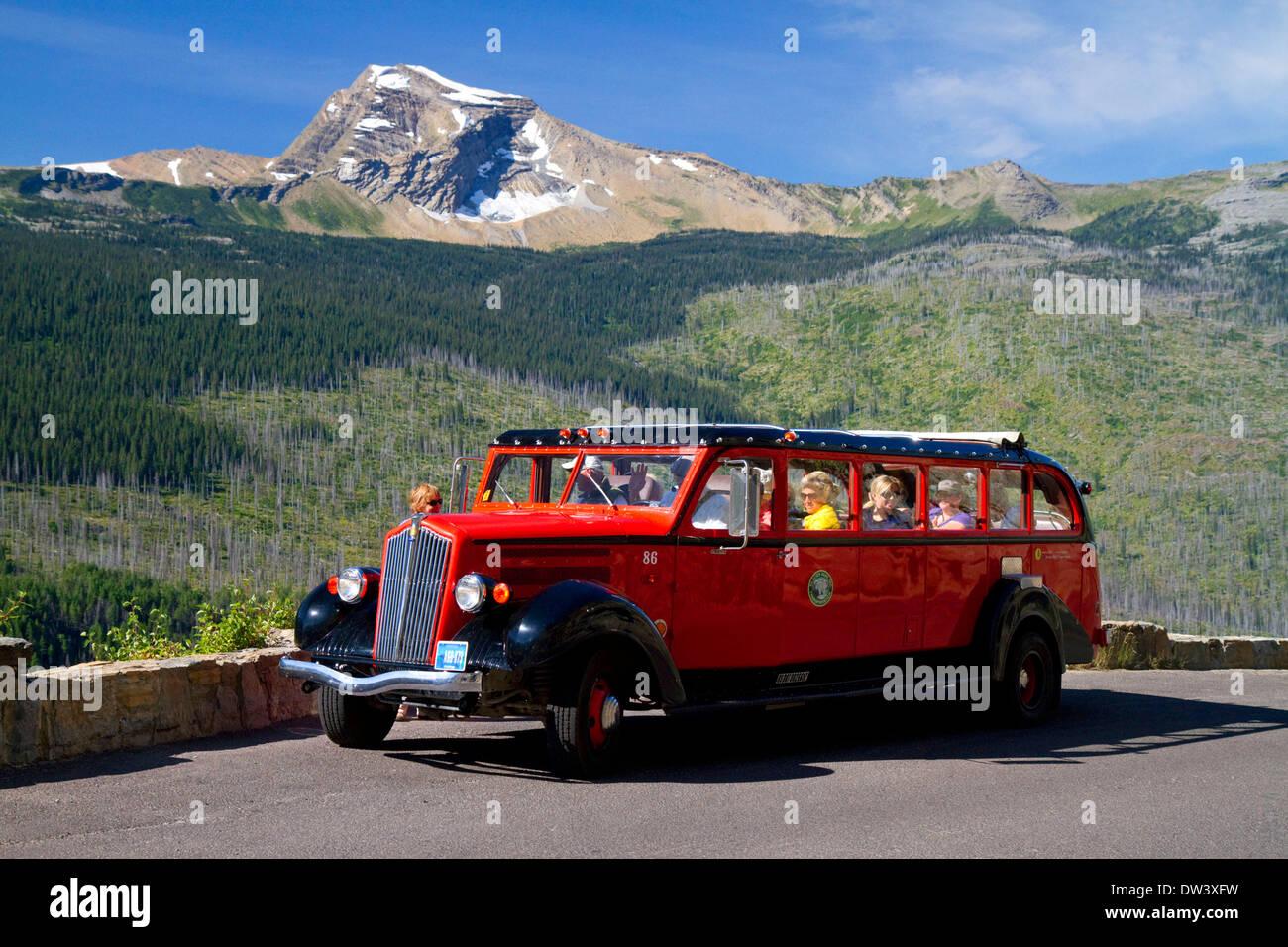 Red jammer glacier national park | jammer legacy dance revolution