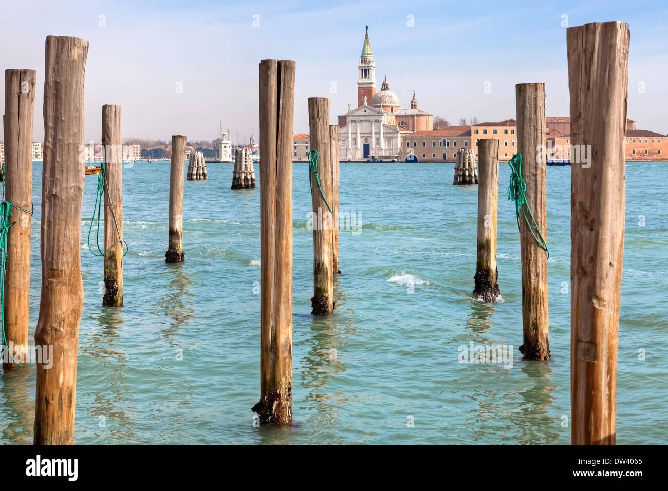 Bacino di San Marco, San Giorgio Maggiore, Venice - Stock Image