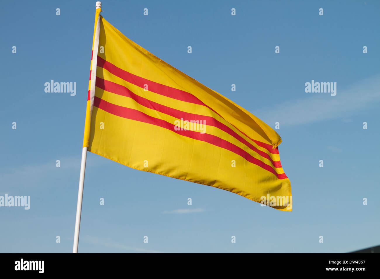 Former South Vietnamese flag Stock Photo