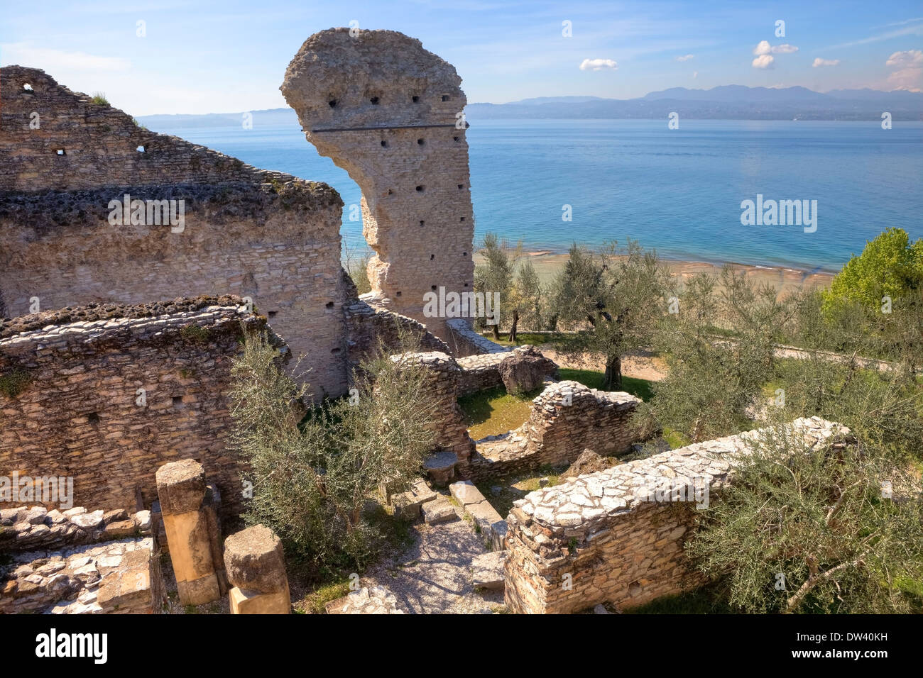 Grottoes of Catullus, Sirmione - Stock Image