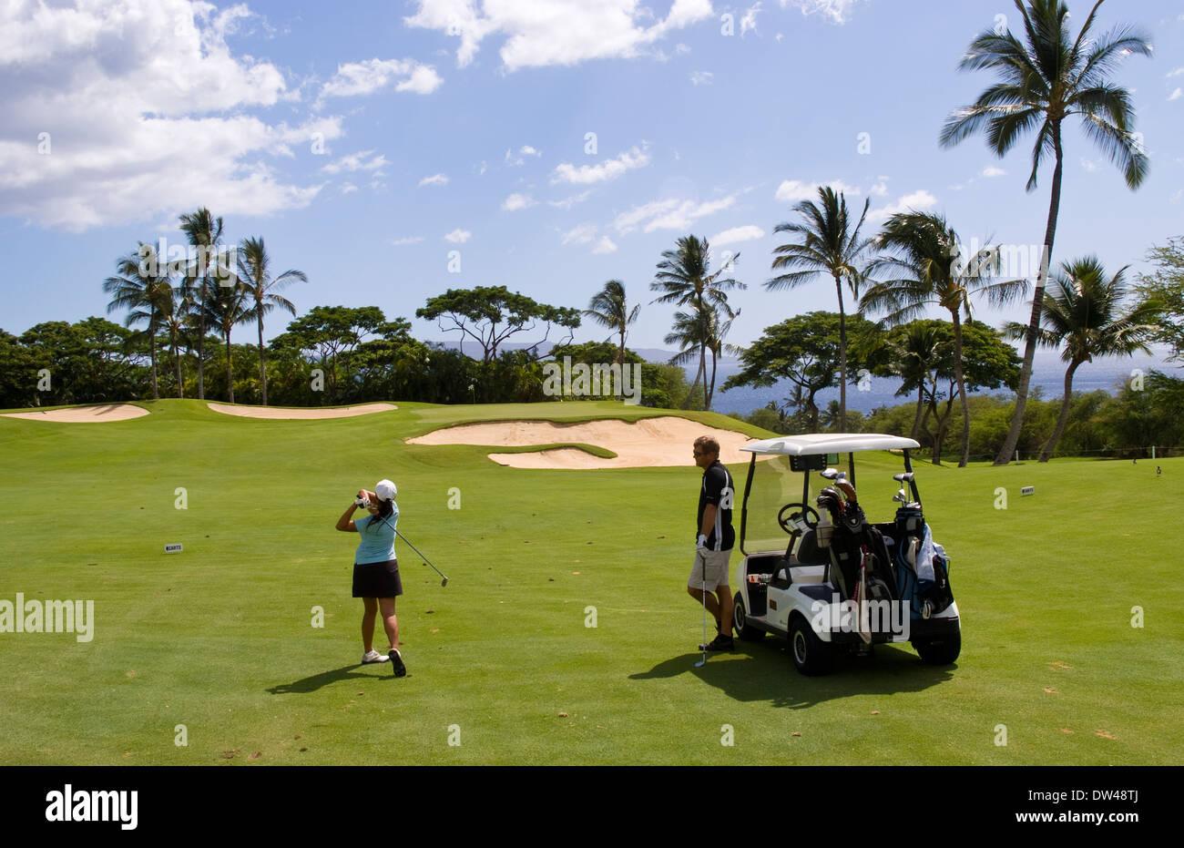 Golf Maui Hawaii Stock Photos Amp Golf Maui Hawaii Stock