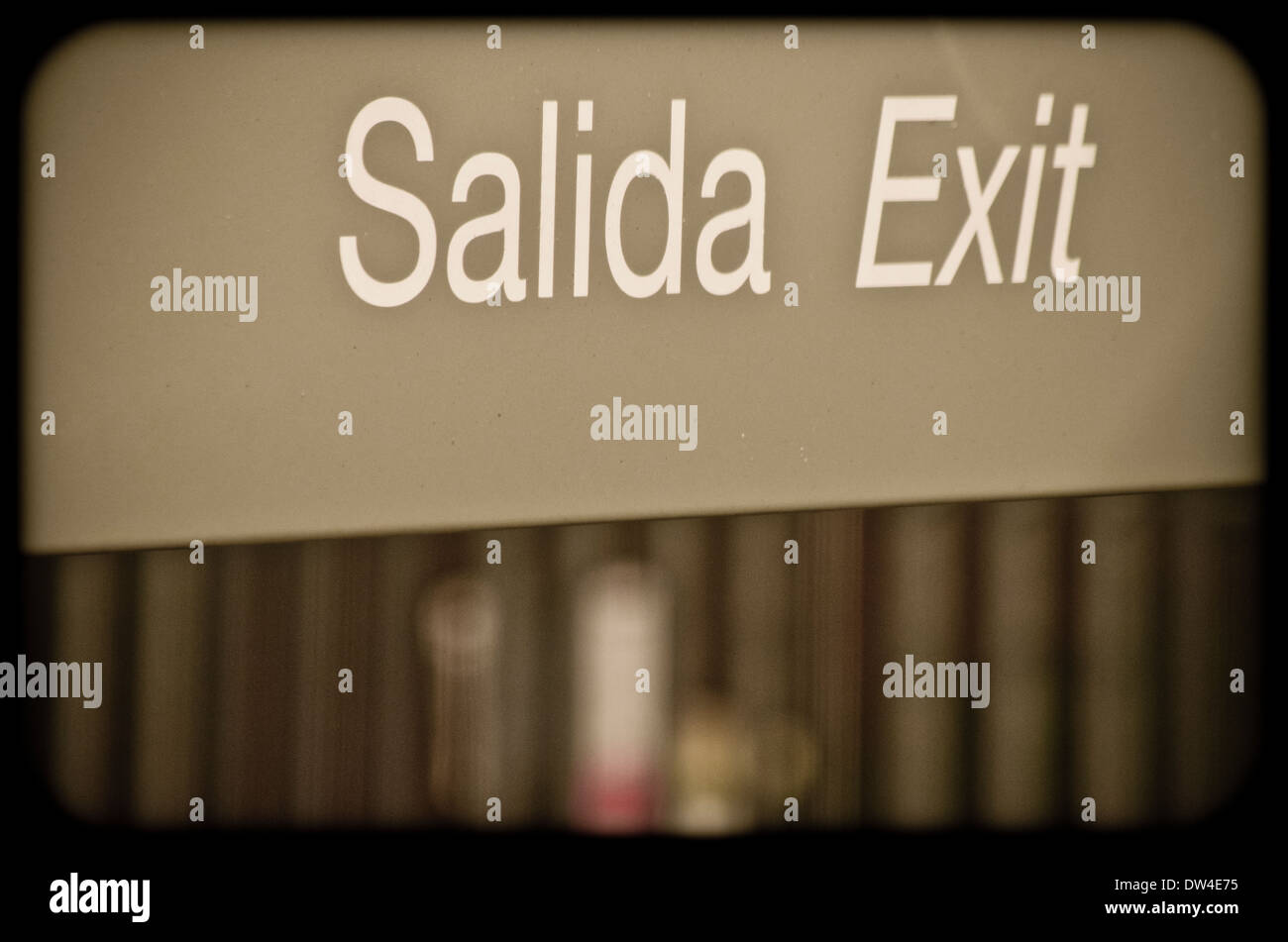 Word exit, salida. - Stock Image
