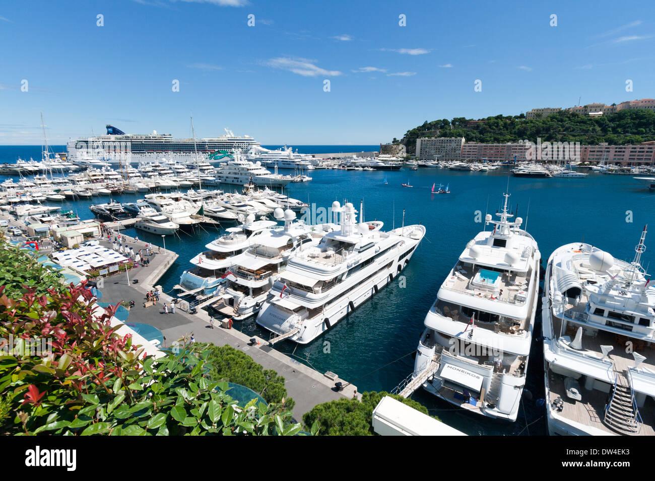 Marina in Monte Carlo, Monaco - Stock Image
