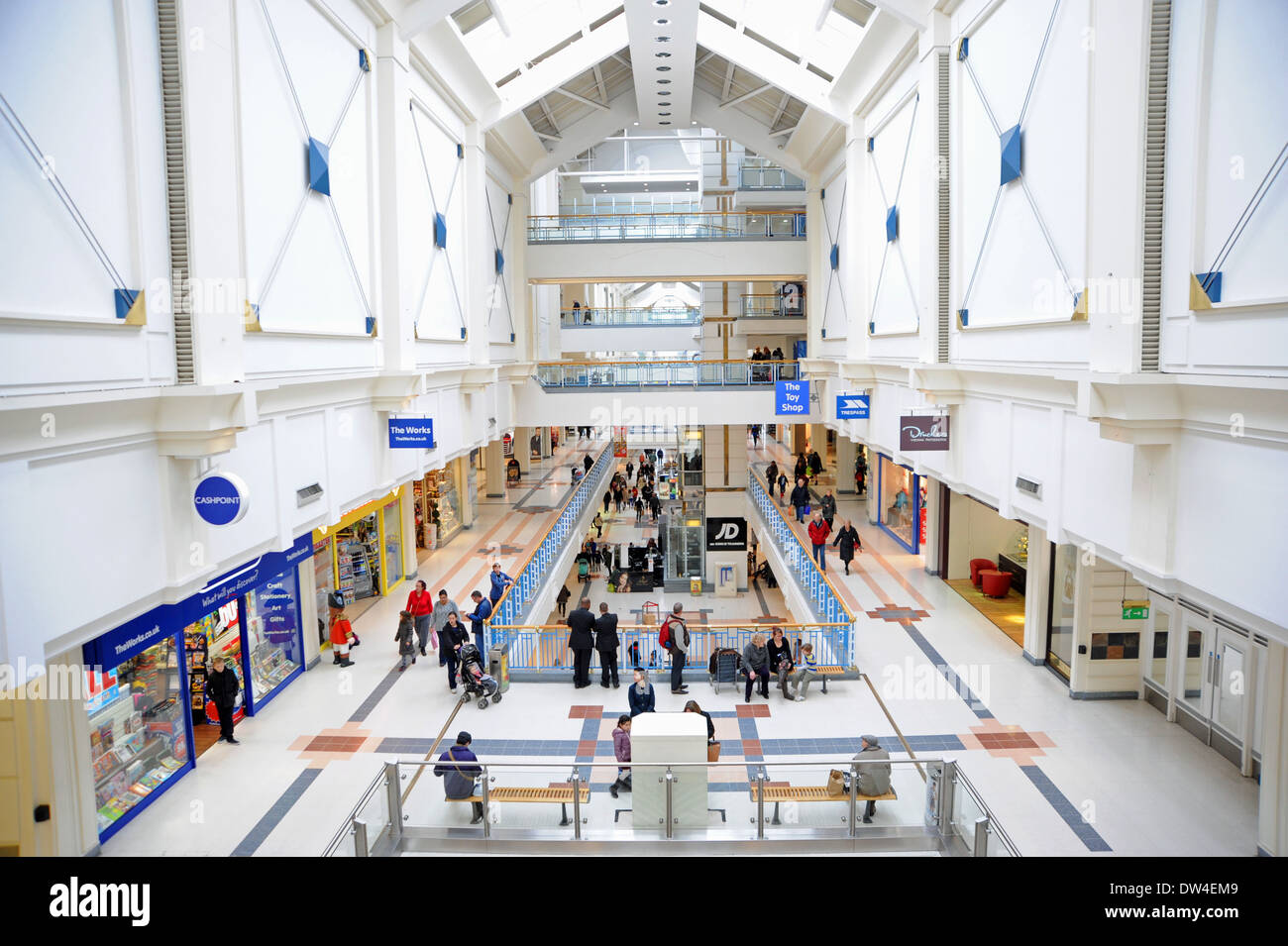 County Mall Shopping Centre Crawley UK - Stock Image