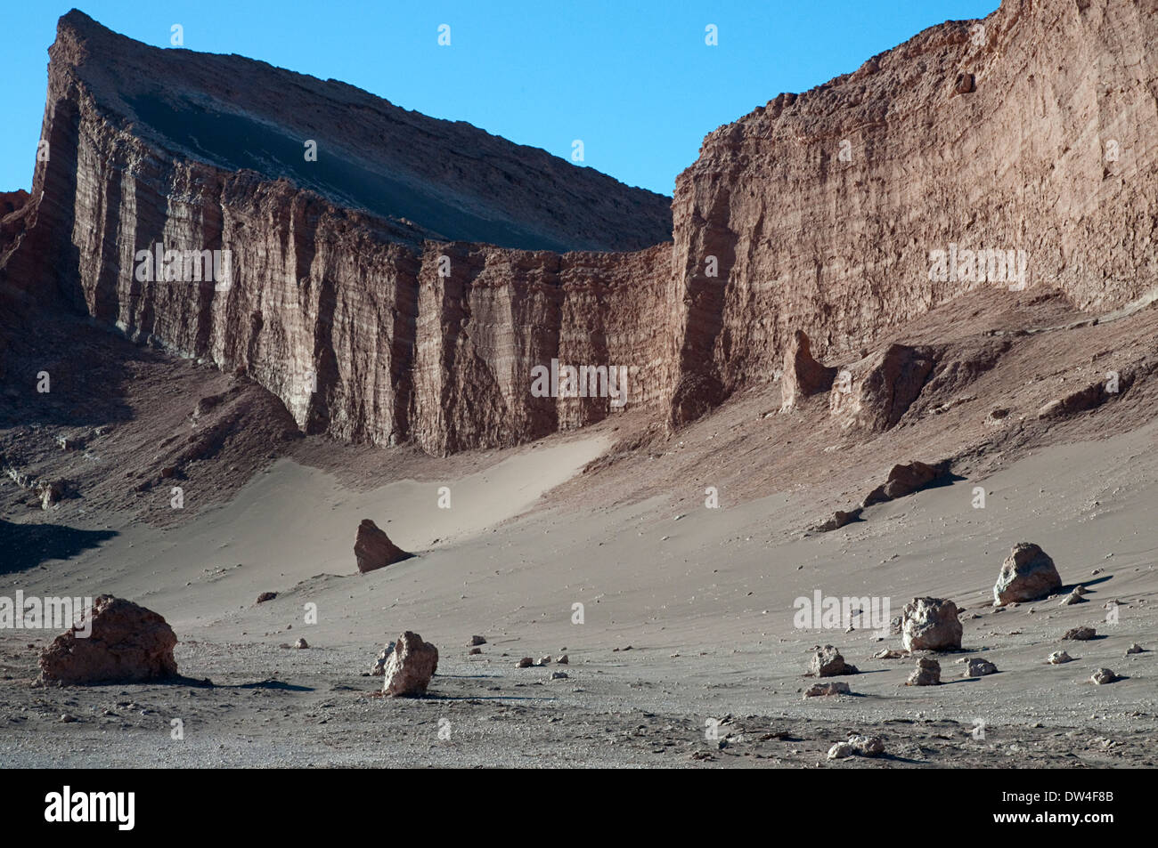 The Amphitheatre in the Valley of the Moon, Los Flamencos National Reserve, San Pedro de Atacama, Chile, South America - Stock Image